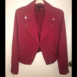 White House Black Market red jacket. Size 6.